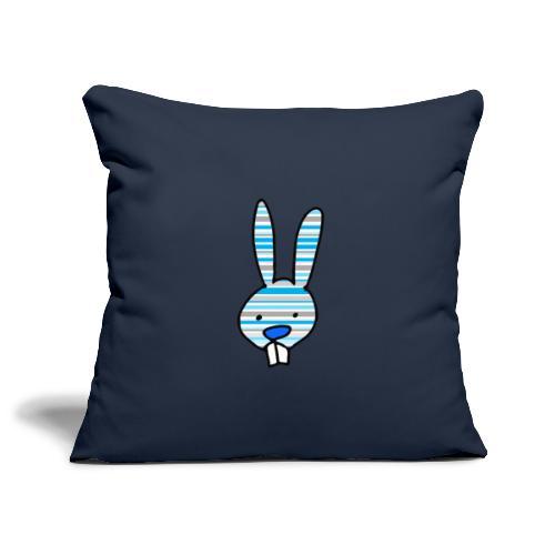 konijn cartoon - Sierkussenhoes, 45 x 45 cm