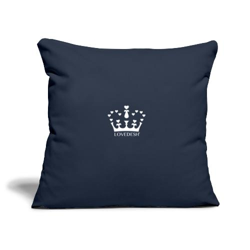White Lovedesh Crown, Ethical Luxury - With Heart - Sofa pillowcase 17,3'' x 17,3'' (45 x 45 cm)