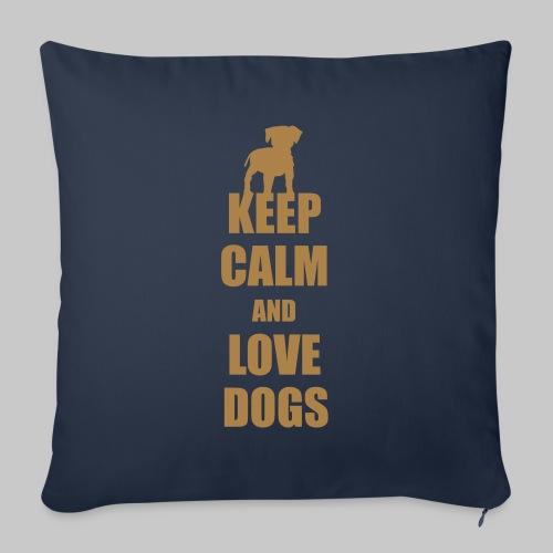 Keep calm love dogs - Sofakissenbezug 44 x 44 cm