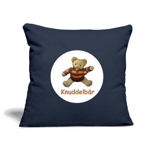 Teddybär Knuddelbär Schmusebär Teddy orange braun - Sofakissenbezug 44 x 44 cm
