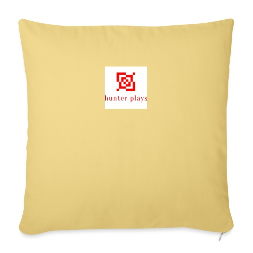 hunter plays - Sofa pillowcase 17,3'' x 17,3'' (45 x 45 cm)