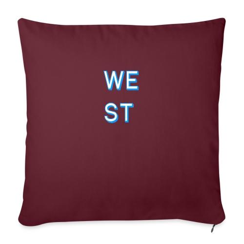 WEST LOGO - Copricuscino per divano, 45 x 45 cm