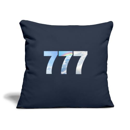 777 un nombre de chance et spirituel. - Housse de coussin décorative 45x 45cm