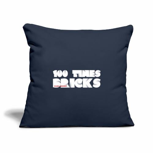 100 TIMES BRICKS retrò - Copricuscino per divano, 45 x 45 cm