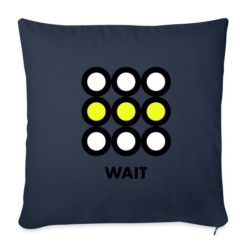 Wait. Vedi anche i motivi Stop e Go! - Copricuscino per divano, 45 x 45 cm
