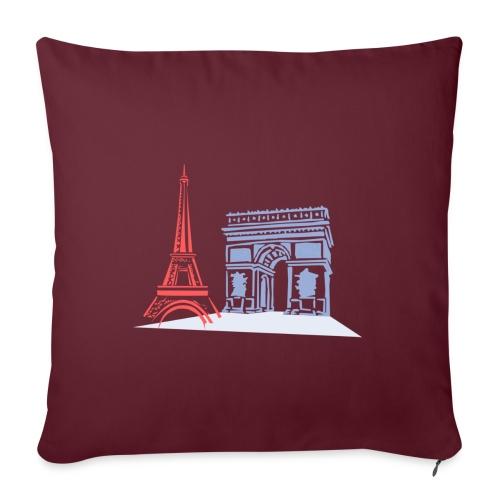 Paris - Housse de coussin décorative 45x 45cm