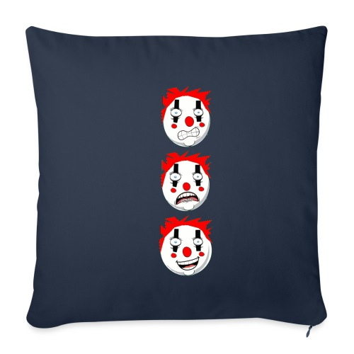 CLOWN EMOTIONS VERTICAL - Housse de coussin décorative 45 x 45 cm