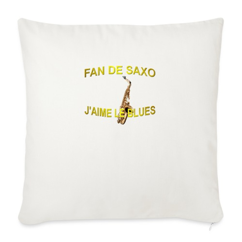 Tee-Shirt pour les fans de blues, et de saxo. - Housse de coussin décorative 45x 45cm