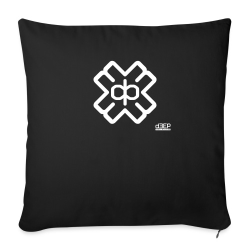 d3eplogowhite - Sofa pillowcase 17,3'' x 17,3'' (45 x 45 cm)