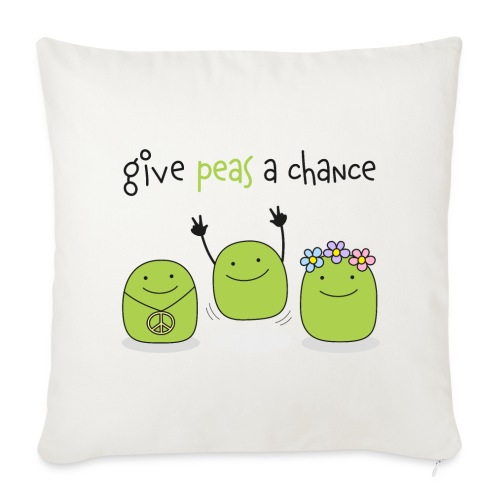 Give peas a chance! - Sofakissenbezug 44 x 44 cm