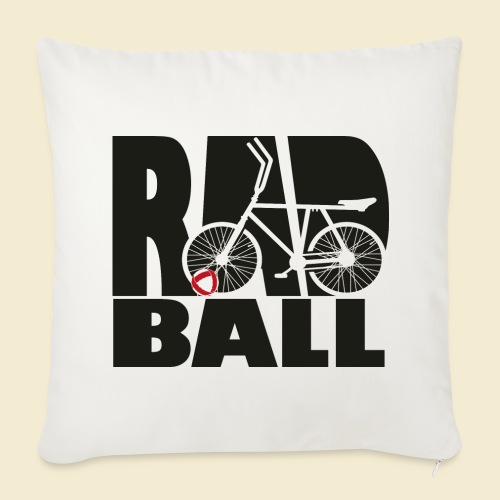 Radball | Typo Black - Sofakissenbezug 44 x 44 cm