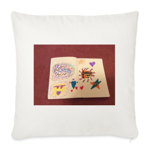 I am a Amster or Awesome Amy logo - Sofa pillow cover 44 x 44 cm