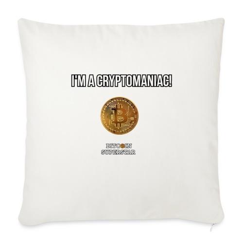 I'm a cryptomaniac - Copricuscino per divano, 44 x 44 cm