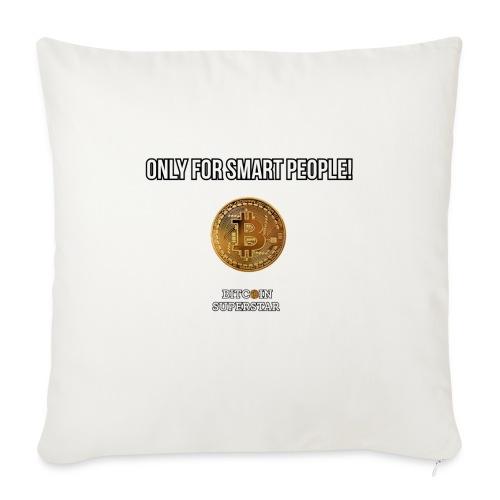 Only for smart people - Copricuscino per divano, 44 x 44 cm