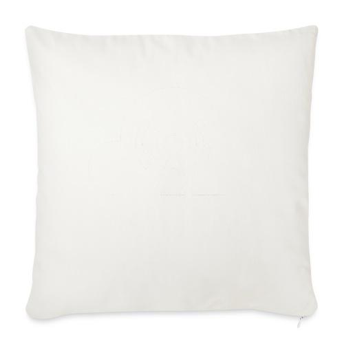 Cloud Cast White mit Schriftzug - Sofakissenbezug 44 x 44 cm