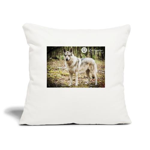 La Tanière des chiens-loups - Housse de coussin décorative 44x 44cm