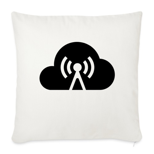 Cloud Cast Wolke schwarz mit Schriftzug - Sofakissenbezug 44 x 44 cm
