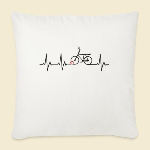 Radball | Heart Monitor Black - Sofakissenbezug 44 x 44 cm