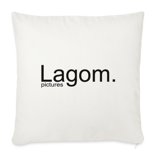 Lagom Pictures Logo Dark - Sofa pillow cover 44 x 44 cm