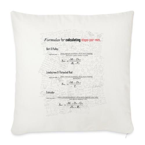 Formulas for calculating steps-per-mm. - Sofa pillow cover 44 x 44 cm