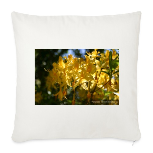 Yellow Lilles - Sofa pillow cover 44 x 44 cm