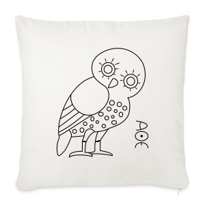 Owl of Athena - Sofa pillow cover 44 x 44 cm
