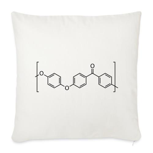 Polyetheretherketone (PEEK) molecule. - Sofa pillow cover 44 x 44 cm