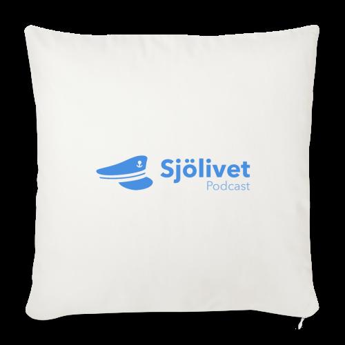 Sjölivet podcast - Svart logotyp - Soffkuddsöverdrag, 44 x 44 cm