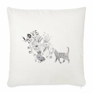 zentangle kissa - Sohvatyynyn päällinen 44 x 44 cm