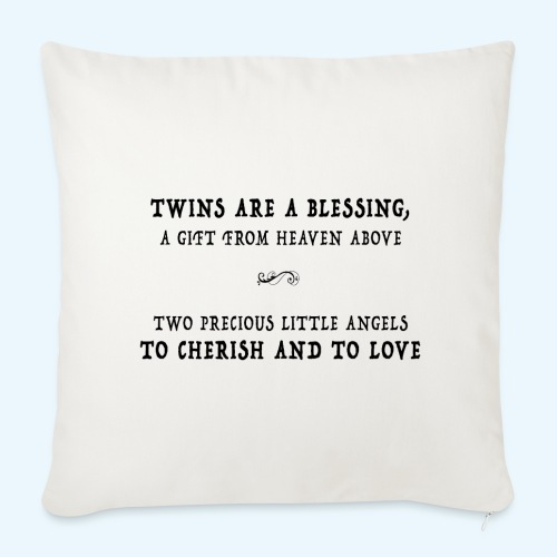 Twins are a blessing - Sierkussenhoes, 44 x 44 cm
