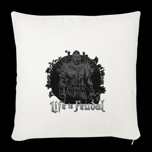 Life is Feudal SteamBadge 2 - Housse de coussin décorative 44 x 44 cm