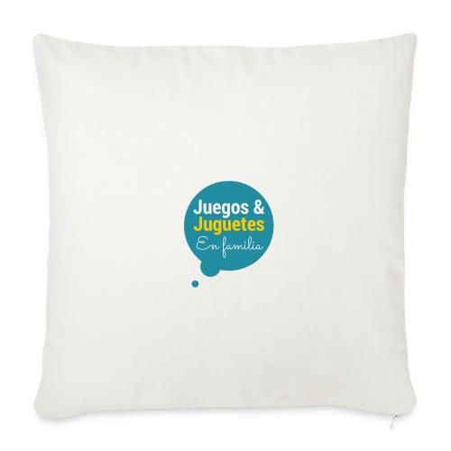 Logo Juegos y Juguetes en Familia - Funda de cojín, 44 x 44 cm
