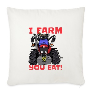 I farm you eat mf - Sierkussenhoes, 44 x 44 cm