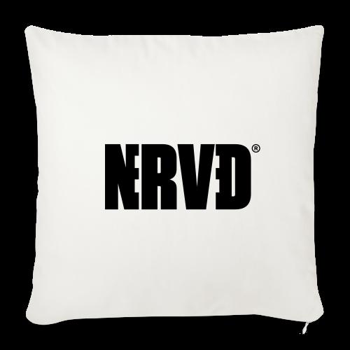 Official Nerved® Logo Black - Sofa pillow cover 44 x 44 cm