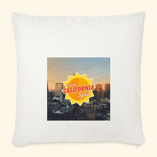 California Spirit City - Housse de coussin décorative 44 x 44 cm