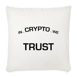 In Crypto we trust - Sierkussenhoes, 44 x 44 cm