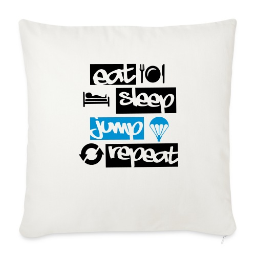 Eat Sleep Jump Repeat - Sofakissenbezug 44 x 44 cm