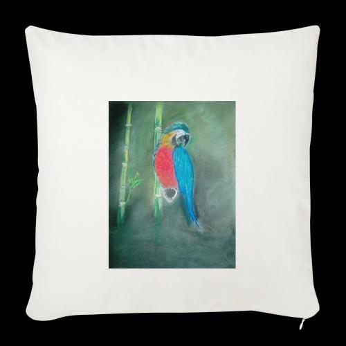Perroquet des iles - Housse de coussin décorative 44x 44cm