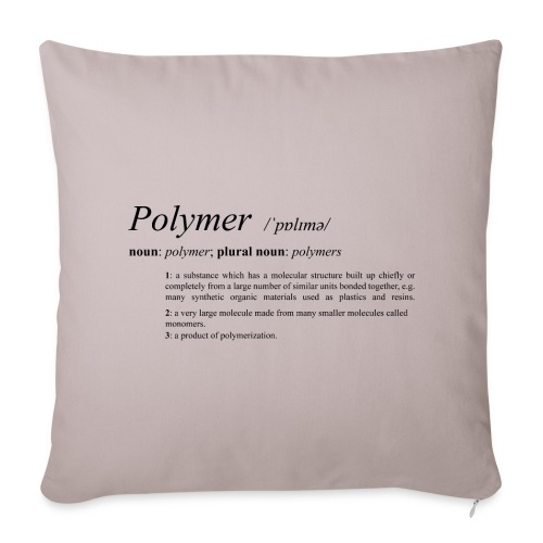 Polymer definition. - Sofa pillow cover 44 x 44 cm