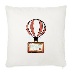 CUORE VIAGGIATORE Gadget per chi ama viaggiare - Copricuscino per divano, 44 x 44 cm