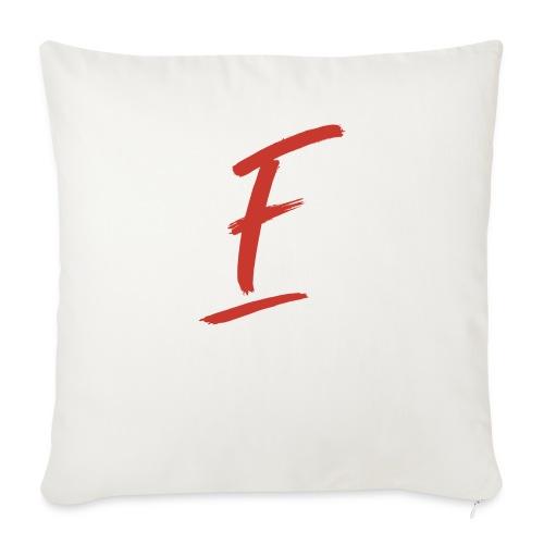 Radio Fugue F Rouge - Housse de coussin décorative 44x 44cm