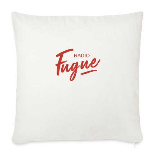 Radio Fugue Red - Housse de coussin décorative 44 x 44 cm