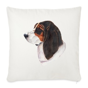 bassethound color - Pudebetræk 44 x 44 cm