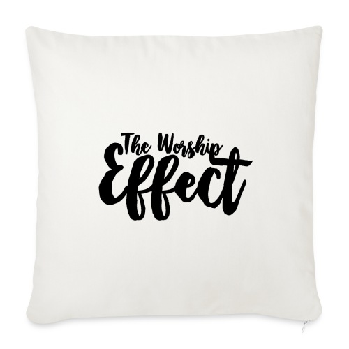 The Worship Effect LOGO Black - Sofa pillow cover 44 x 44 cm