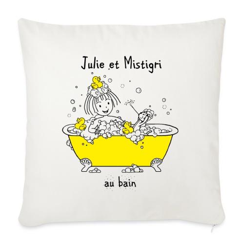 Julie et Mistigri au bain - Housse de coussin décorative 45x 45cm