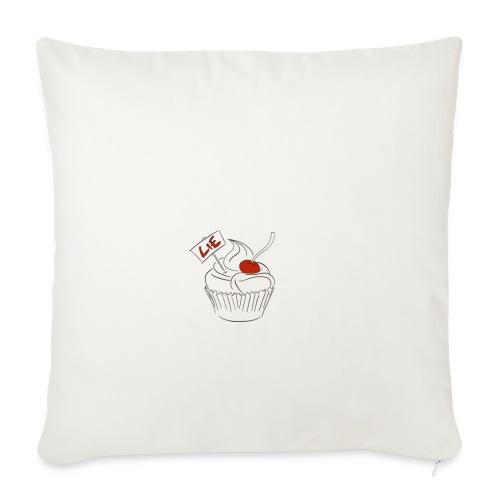 The Cake Is A Lie - Sofa pillowcase 17,3'' x 17,3'' (45 x 45 cm)