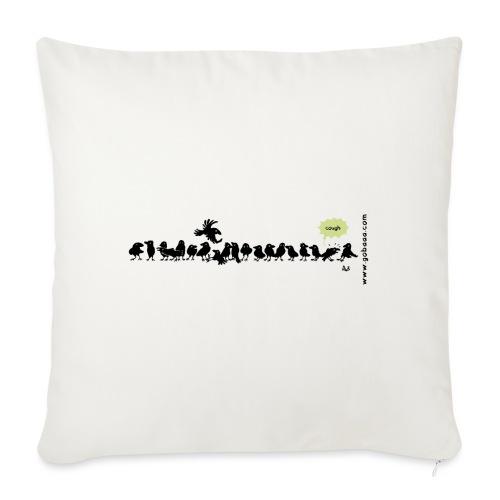 Corvids - it's a crowd! - Sofa pillowcase 17,3'' x 17,3'' (45 x 45 cm)