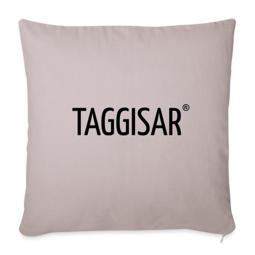 Taggisar Logo Black - Soffkuddsöverdrag, 45 x 45 cm