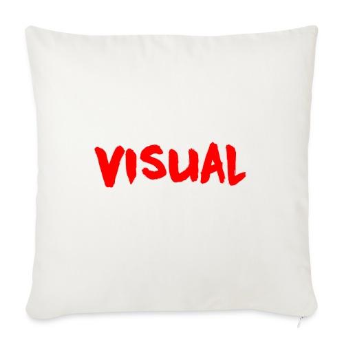 Visual red png - Sofa pillowcase 17,3'' x 17,3'' (45 x 45 cm)