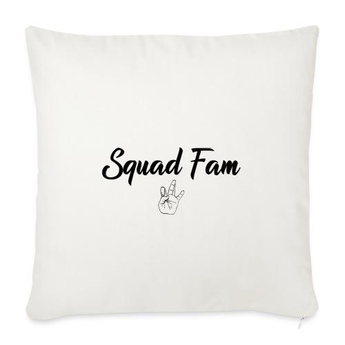 SquadFamlogosvart - Soffkuddsöverdrag, 45 x 45 cm